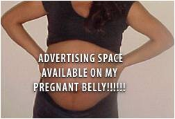 Body advertising belly