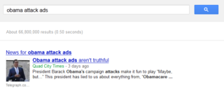 Obama attack ads not on Google AdWords