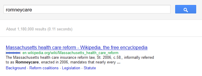 Romneycare not on Google AdWords
